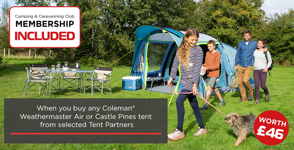 Camping & Caravanning Club Membership Included
