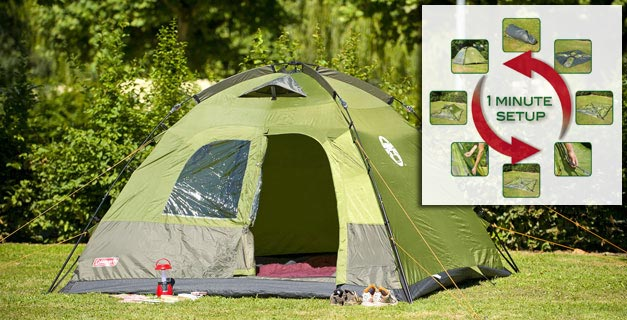 Coleman Lakeside Deluxe 4 Person Tent Green Grey Co Uk & Coleman Lakeside Instant 4 Person Dome Tent Review - Best Tent 2017