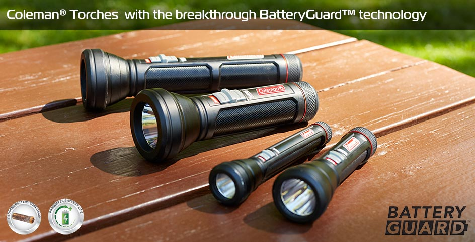 Torches with the breakthrough  BatteryGuard™ technology