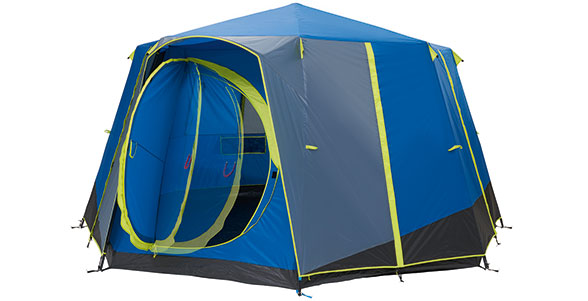 COLEMAN CORTES OCTAGON 8 PERSON FAMILY TENT BLUE glamping luxury camping large