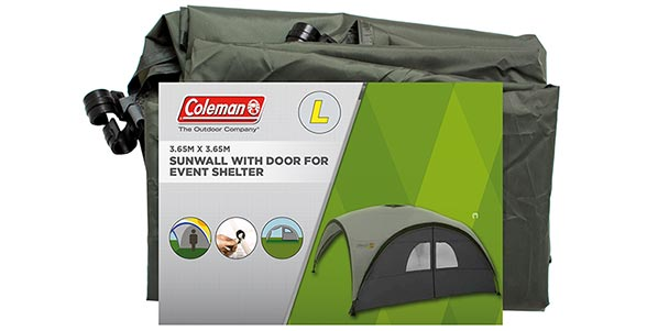 Event Shelter Sunwall Door